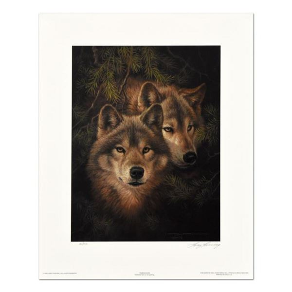 """Larry Fanning (1938-2014), """"Timber Mates"""" Limited Edition Lithograph, Numbered and Hand Signed with"""