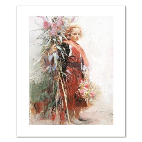 """Pino (1939-2010), """"Flower Child"""" Limited Edition on Canvas, Numbered and Hand Signed with Certificat"""