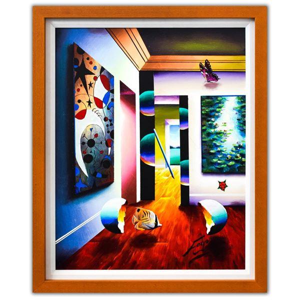 "Ferjo- Original Oil on Canvas ""Interior Miro Monet"""