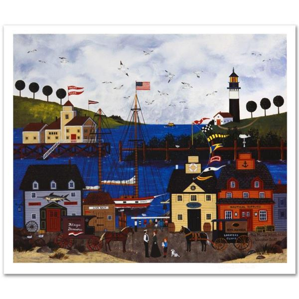 """Jane Wooster Scott, """"The Maine Attraction"""" Hand Signed Limited Edition Lithograph with Letter of Aut"""