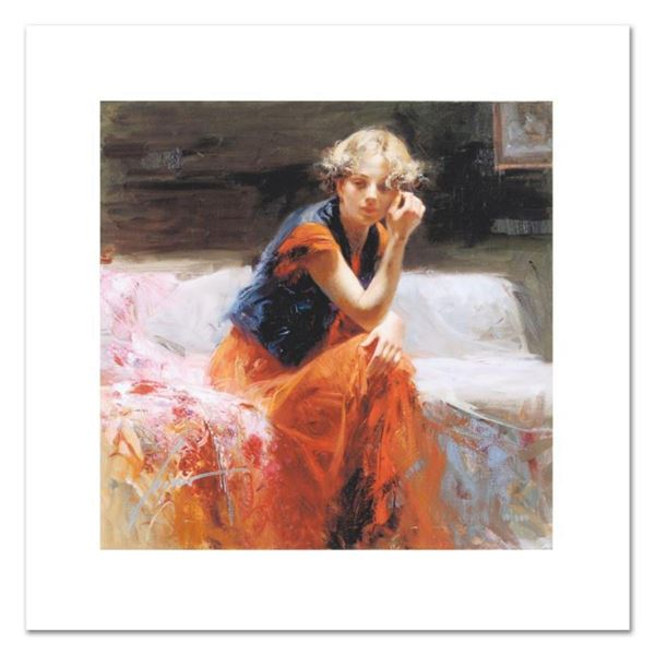 """Pino (1939-2010), """"Silent Contemplation"""" Limited Edition on Canvas, Numbered and Hand Signed with Ce"""