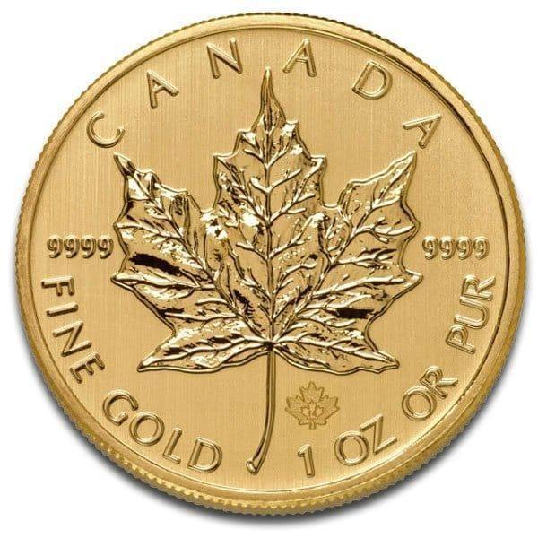 INVESTMENT GOLD BULLION - Canada Maple Leaf $50 Co