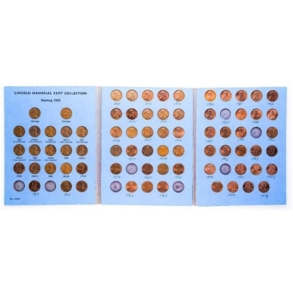 USA Lincoln Memorial Coin Collection in Vintage Wh