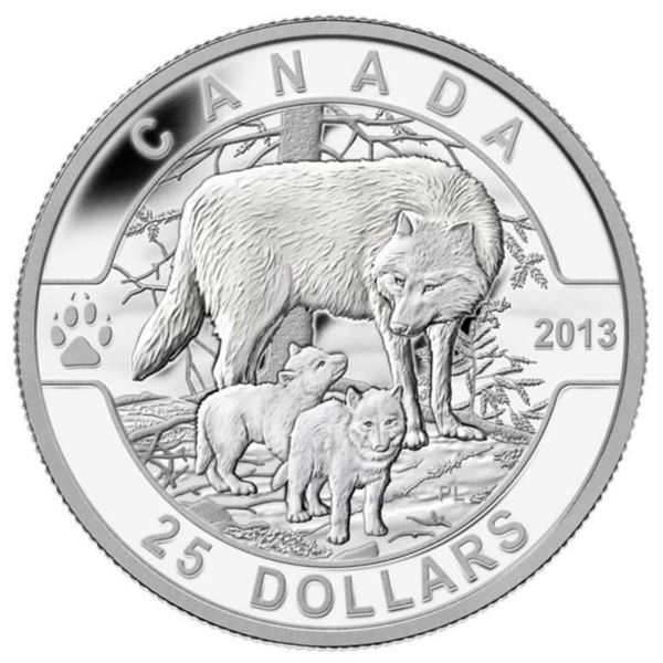 2013 Fine Pure Silver $25 The Wolf Coin