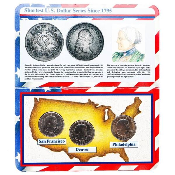 USA First year all Mint Set of 1979 Susan B. Antho