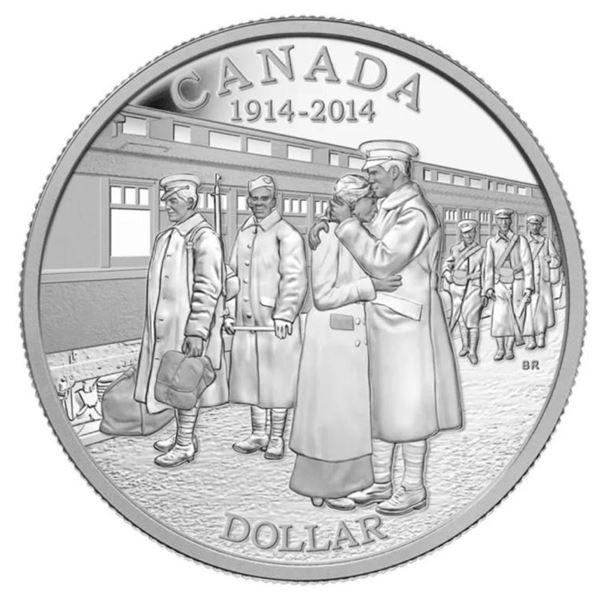2014 Canada Fine Pure Silver $1 BU