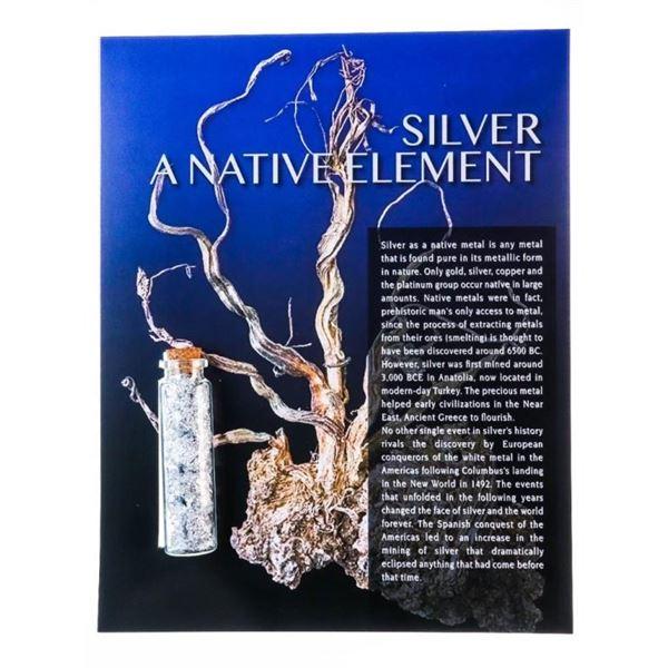 .9999 Silver - A Native Element - Assayers Jar Ful