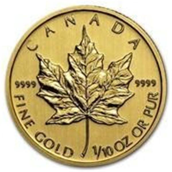 Canadian Gold Maple Leaf $5 Coin, .9999 Fine 24kt