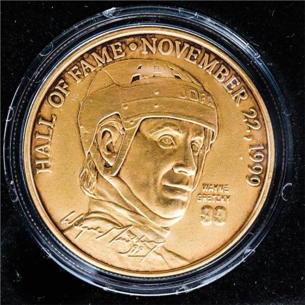 Wayne Gretzky Bronze Medallion HOF Induction Novem