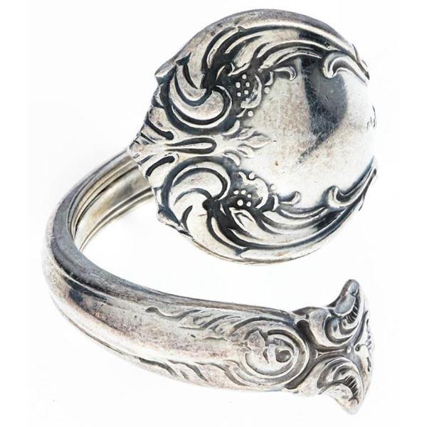 Estate Sterling Silver Ring -Snake Style