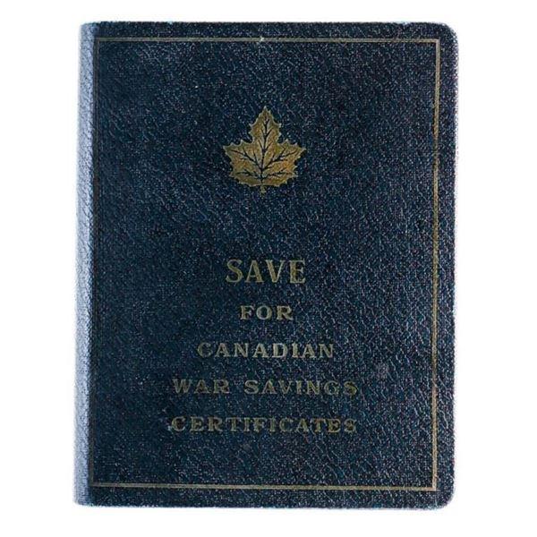 Vintage War Savings Certificates Book Style Bank -