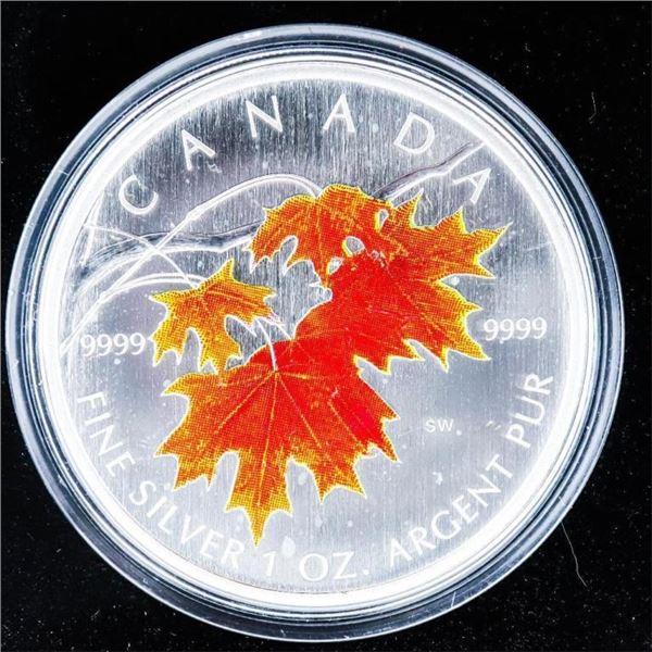 RCM 2007 Fine Pure Silver Maple Leaf Coloured Coin