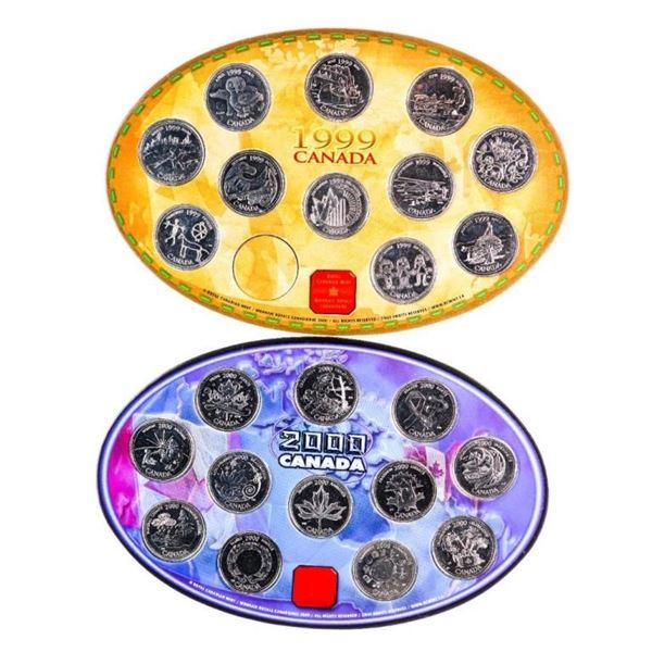 Lot 2 1999/2000 Millennium 25 Cent Coin Collection