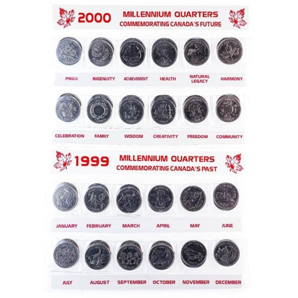 Loy 2 x 24pc Canada 1999/2000 25 Cent Collections