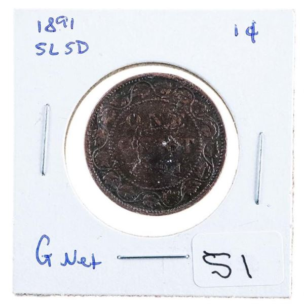 1891 Canada Large One Cent Sl SD