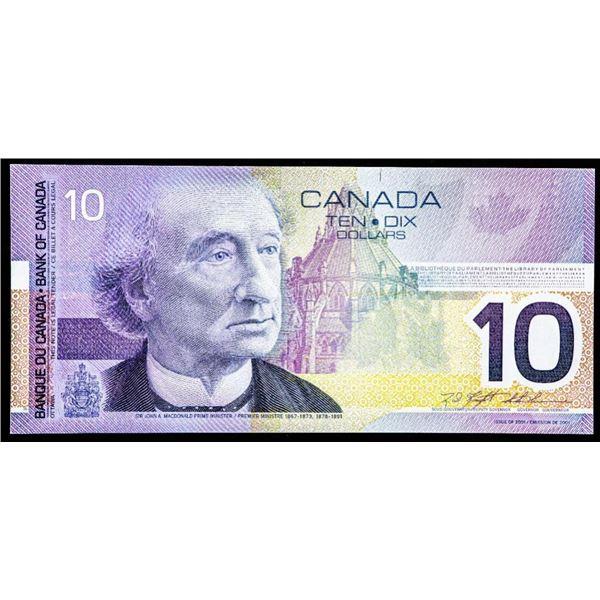"""OLMSTEAD Original Bank of Canada $10 """"FDU"""" Gem U"""