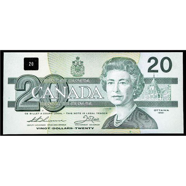 """OLMSTEAD Original 1991 $20 """"AIN"""" (667) UNC 65"""