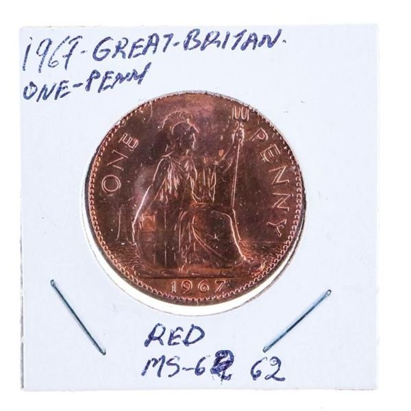 1967 GB Large Penny MS62 RED