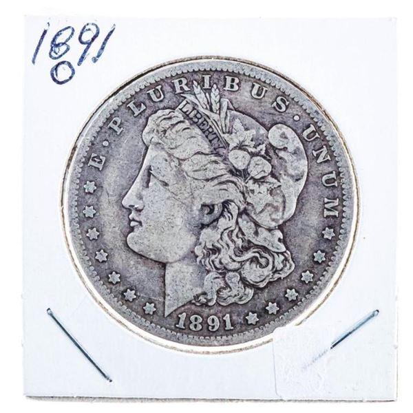 """1891 """"O"""" USA Silver Morgan Dollar"""