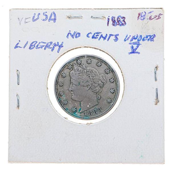 1883 USA 5 Cent Coin Liberty V (28)