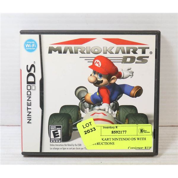 MARIO KART NINTENDO DS WITH INSTRUCTIONS