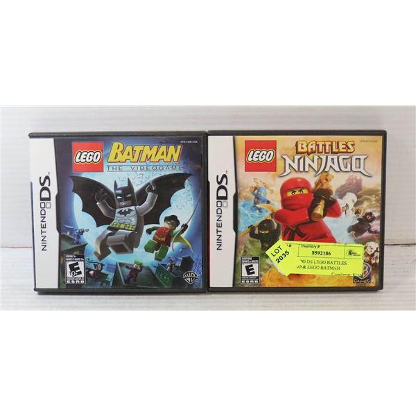 NINTENDO DS LEGO BATTLES NINJAGO & LEGO BATMAN