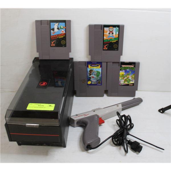 LOT OF NES & ZAPPER GUN