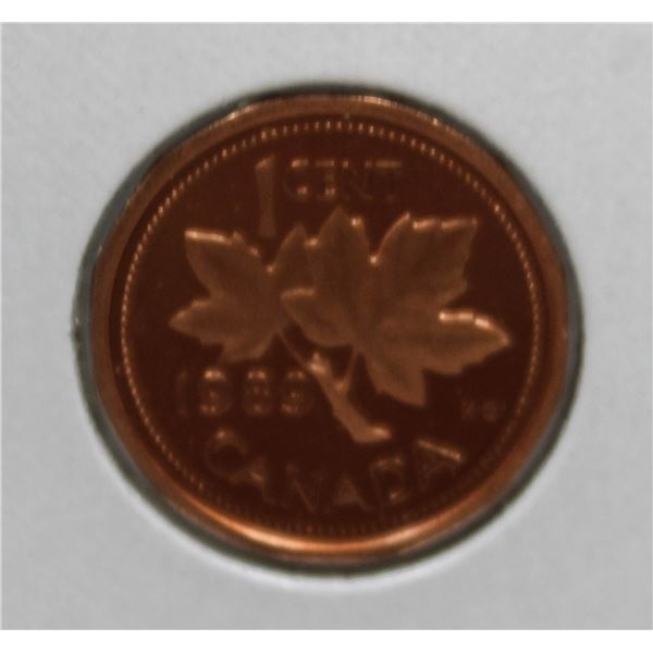 1989 PROOF FINISH CANADA 1 CENT