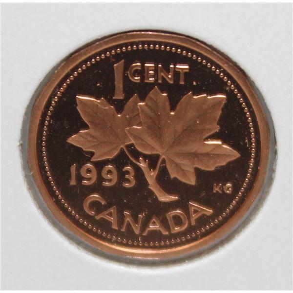 1993 PROOF FINISH CANADA 1 CENT