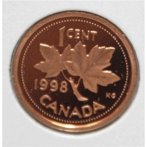1998 PROOF FINISH CANADA 1 CENT