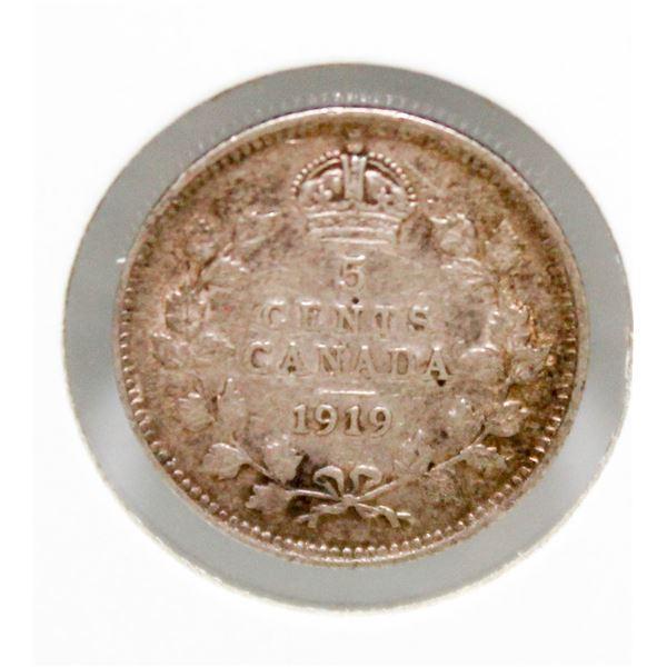 "1919 GEORGE V CANADA SILVER ""FISHSCALE"""