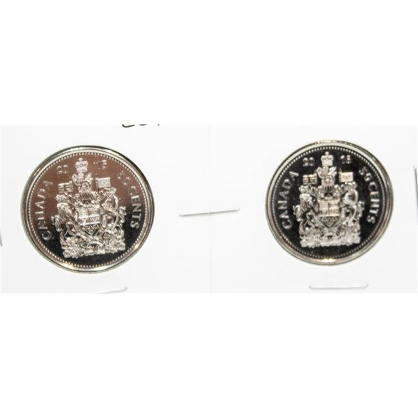 SET OF 2 CANADA 50 CENT COINS 2015/16