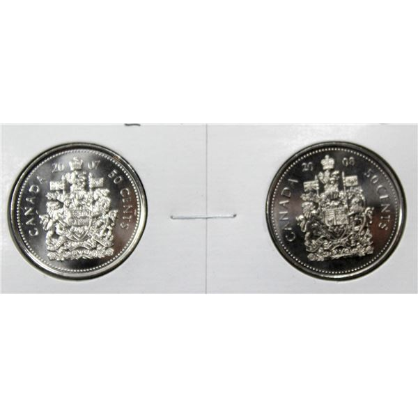 SET OF 2 CANADA 50 CENT COINS 2007/08