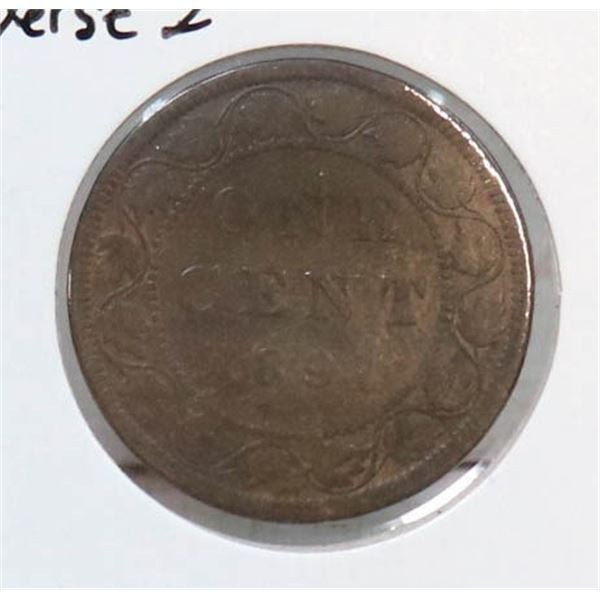 1891 LARGE DATE VICTORIAN CANADA LARGE CENT