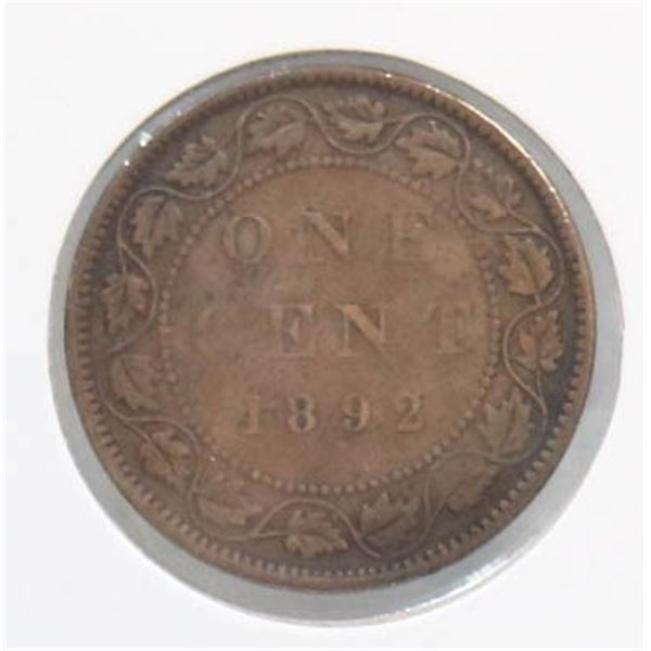 1892 VICTORIAN CANADA LARGE CENT