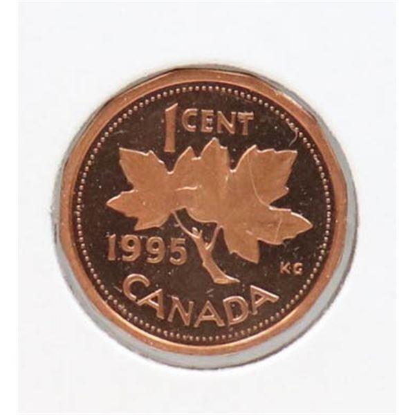 1995 PROOF FINISH CANADA 1 CENT