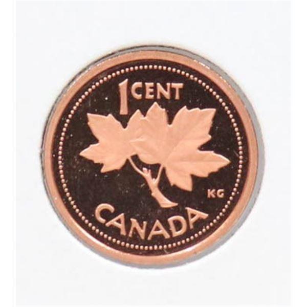 2002 PROOF FINISH CANADA 1 CENT