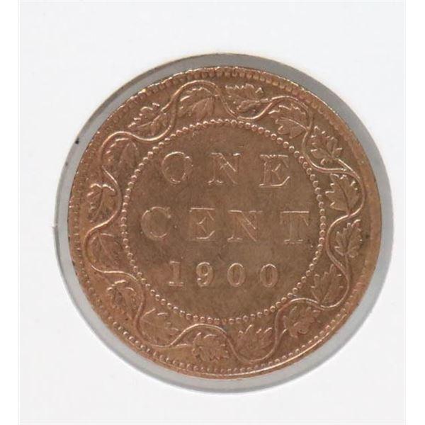 1900 PLAIN SEMI-KEY CANADA LARGE CENT