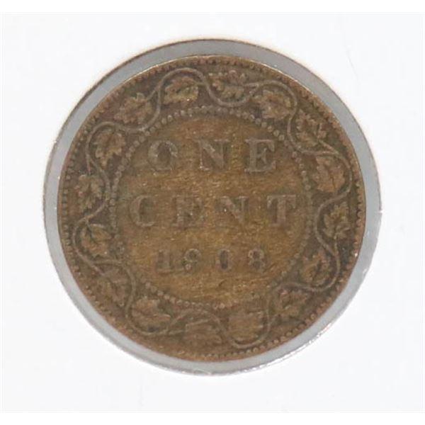 1908 EDWARDIAN CANADA LARGE CENT