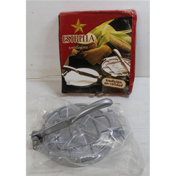FLAT WITH ESTRELLA TORTILLADORA CAST IRON