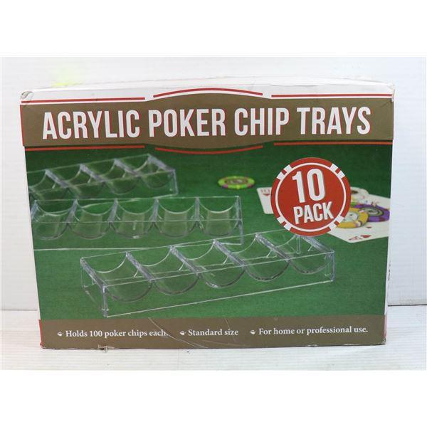 ACRYLIC POKER CHIP TRAYS