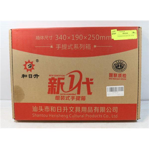 RED SUGGESTION BOX W/ LOCK