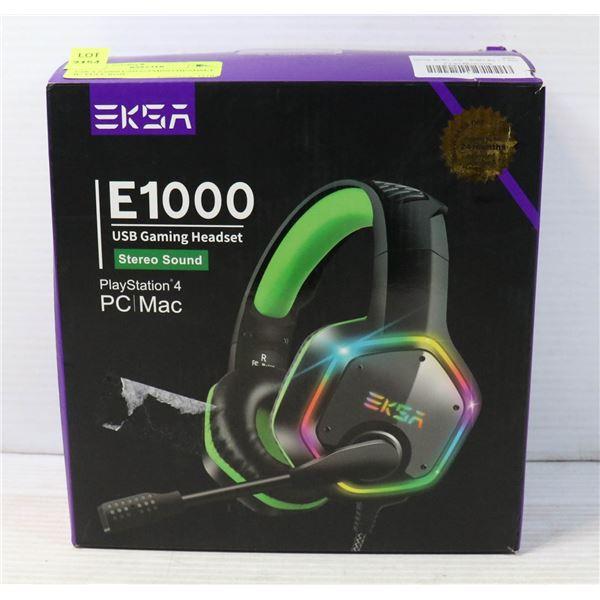 ESKA E1000 USB GAMING HEADSET W/ FULL RGB