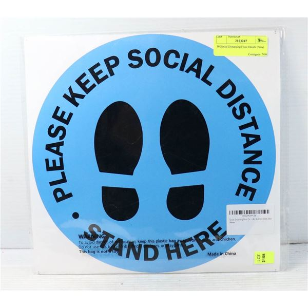 10 SOCIAL DISTANCING FLOOR DECALS - NEW