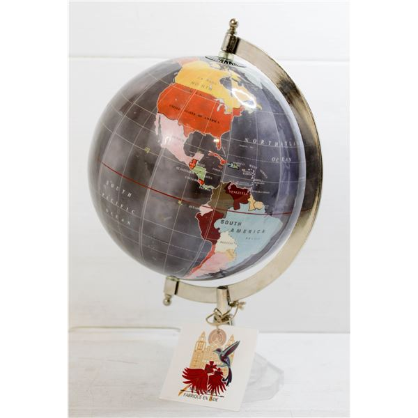 WORLD GLOBE MADE IN INDIA WITH TAG