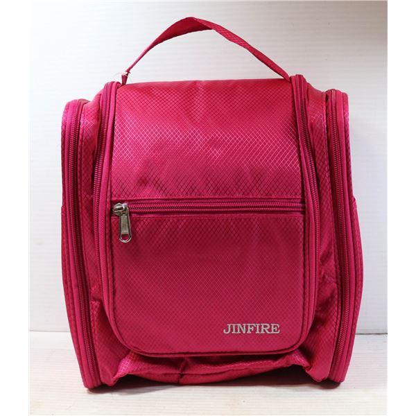 JINFIRE PINK WOMENS TRAVEL TOILETRIES BAG