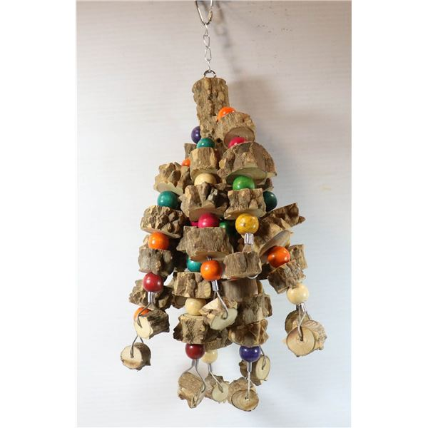 BIRD TOY 100% PEPPERED WOOD
