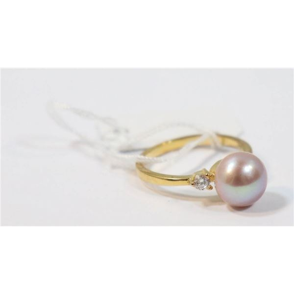 #239-FRESH WATER PEARL RING SIZE 6.5