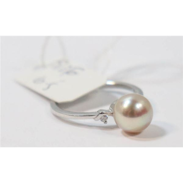 #242-FRESH WATER PEARL RING SIZE 6.5