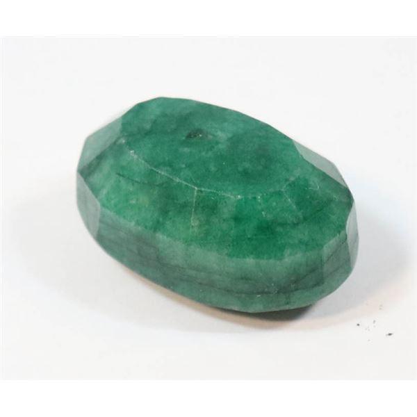 #155-GREEN EMERALD GEMSTONE 90.25ct